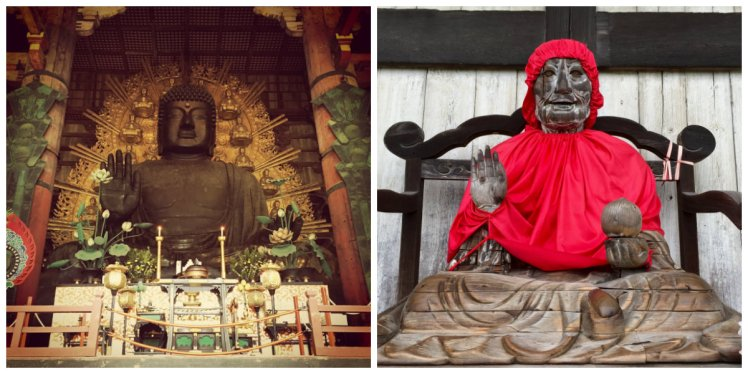 Great Buddha on the left. This terrifying thing on the right