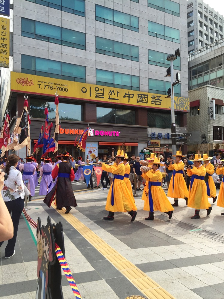 The traditional Korean Dunkin Donuts procession