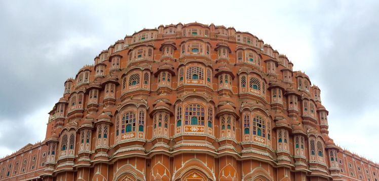 The Hawa Mahal (Palace of Winds), originally built so the royal women could creep on what was happening on the streets below