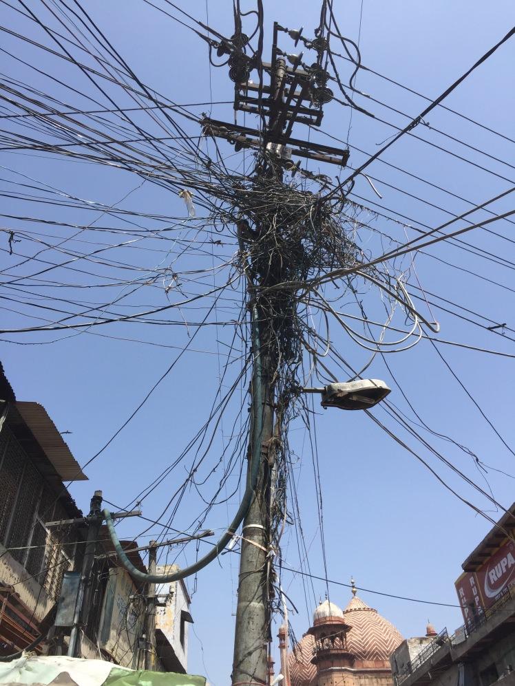Delhi power lines