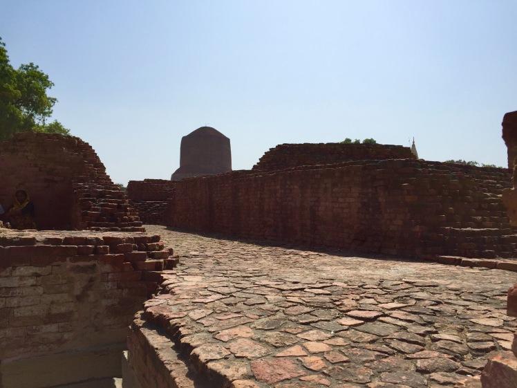View of the stupa at Sarnath