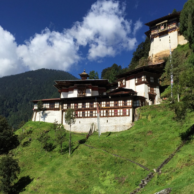 Another monastery in Thimphu, the Chacgri Monastery. Below is its resident sheep