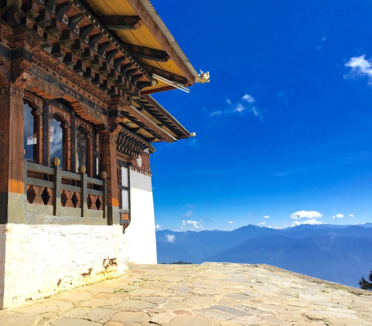 Lungchutse Monastery on the mountain pass between Thimphu and Punakha