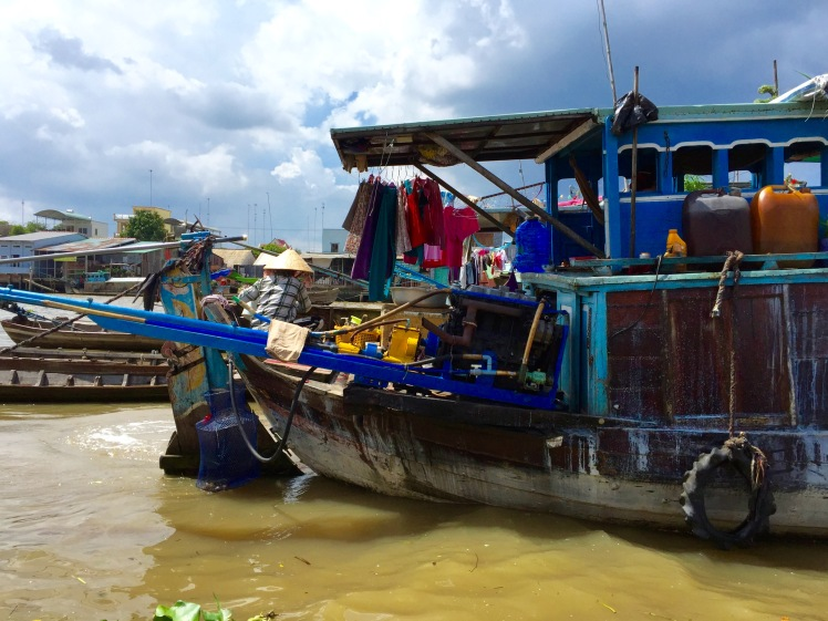 Many people in the Mekong Delta still live and work exclusively on the water