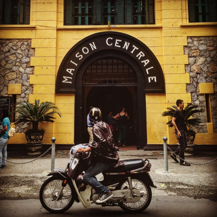 "Prison entrance. ""Maison Centrale,"" literally meaning ""central house,"" is a common euphemism for a prison used in France in the 20th century."