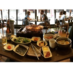 The food in Seoul was out of this world. I had to use the pano function just to get my entire lunch in one shot